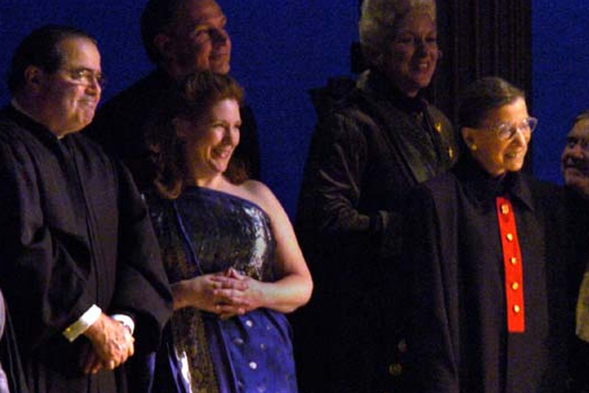 Justice Antonin Scalia and Justice Ruth Bader Ginsburg at the opera in 2006.