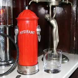A shaker disguised as both a fire hydrant...