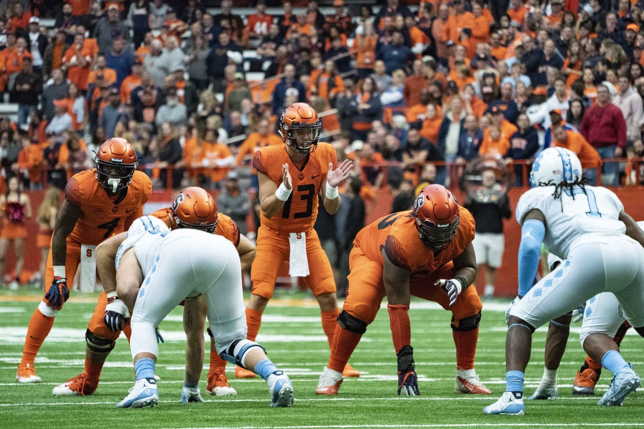 COLLEGE FOOTBALL: OCT 20 North Carolina at Syracuse