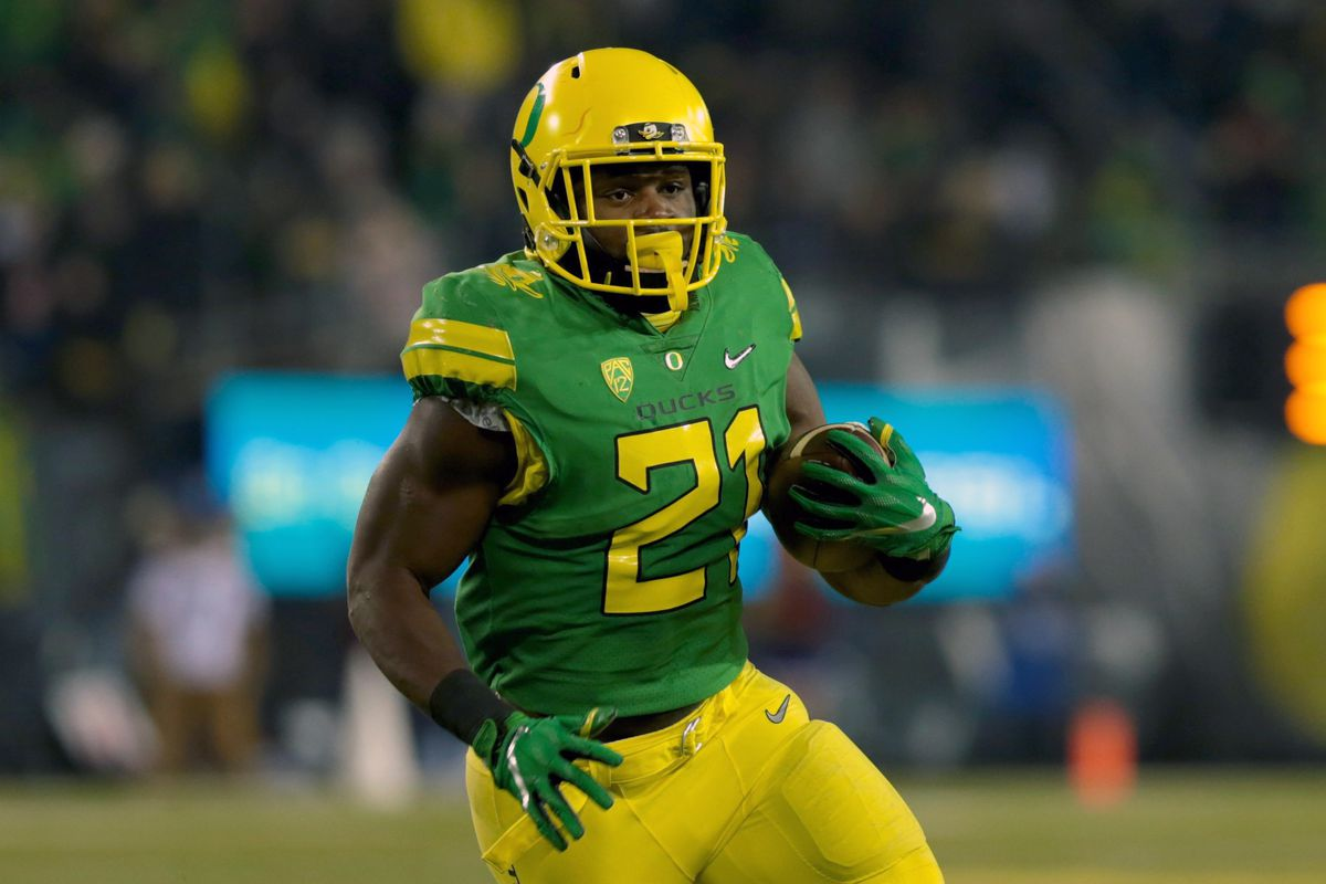 best sneakers c51a7 8ea00 Royce Freeman drafted by Broncos: Advanced stats show value ...