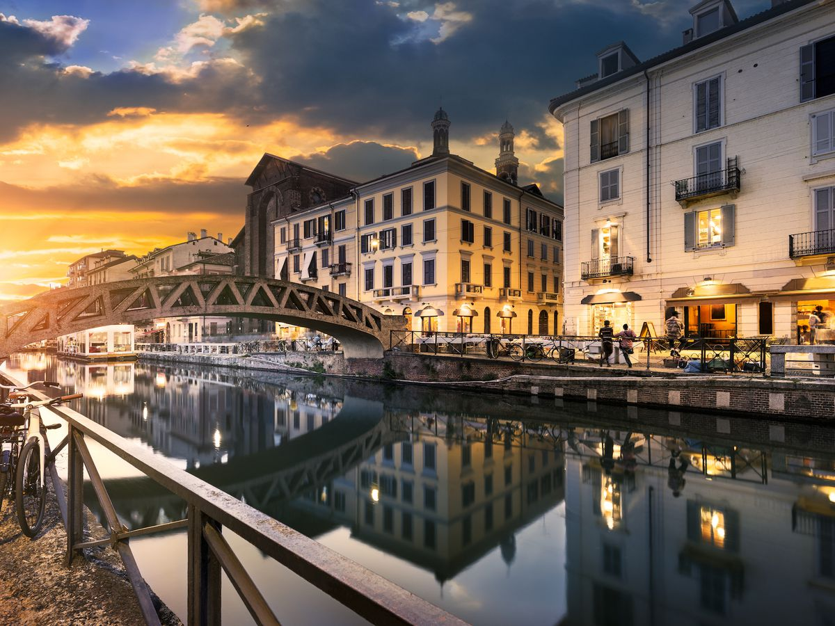 Bridge Across The Naviglio Grande C In Milan Photo Ventdusud Shutterstock