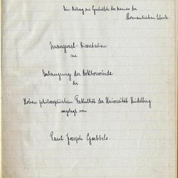 This undated photo provided by Alexander Autographs, of Stamford, Conn., shows a pre-World War II document by Nazi propaganda minister Joseph Goebbels. Alexander Historical Auctions plans to sell the collection of Goebbels' writings Thursday, Sept. 27, 2012, in Stamford.