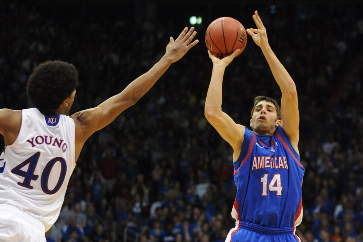 Jesse Reed shot the ball incredibly well on Wednesday, leading American to a win over BU.