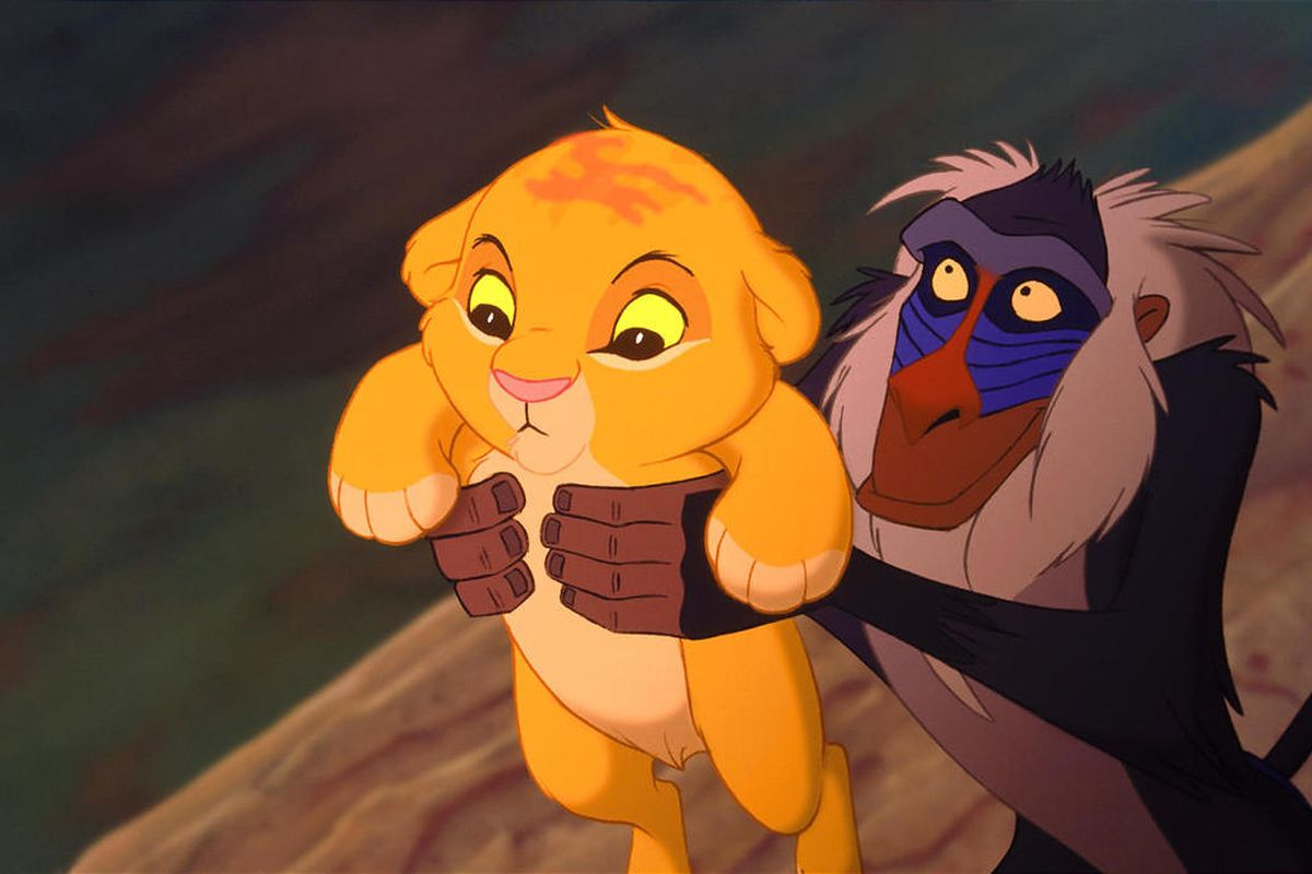 """Simba and Rafiki in """"The Lion King."""""""