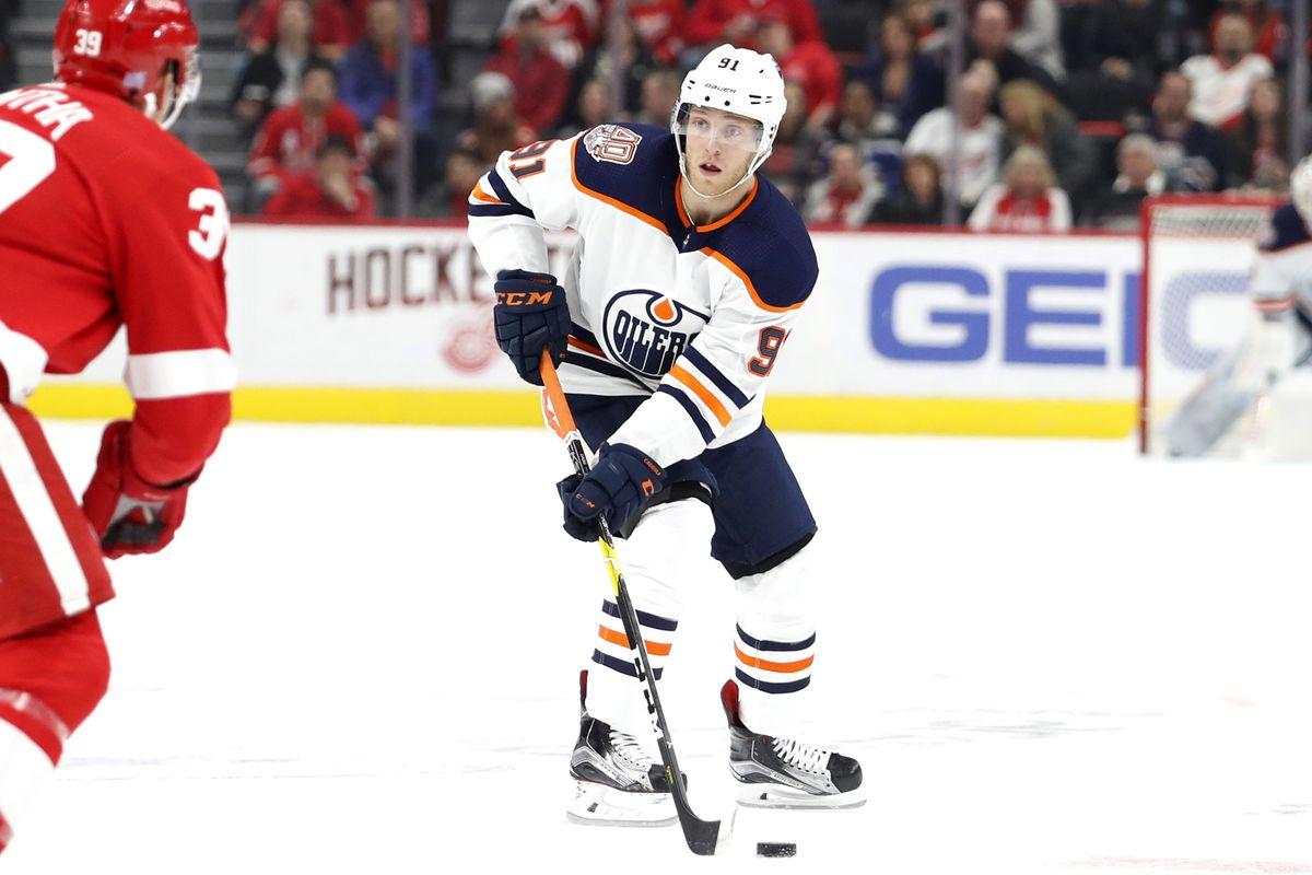 NHL: Edmonton Oilers at Detroit Red Wings