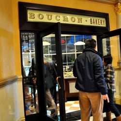 The entrance to the downstairs portion of Bouchon Bakery.