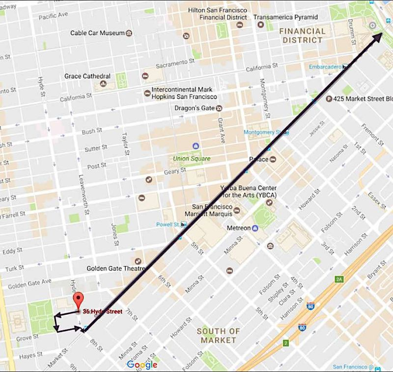 Womens march 2018 san francisco street closures route and time map via womens march bay area sciox Choice Image