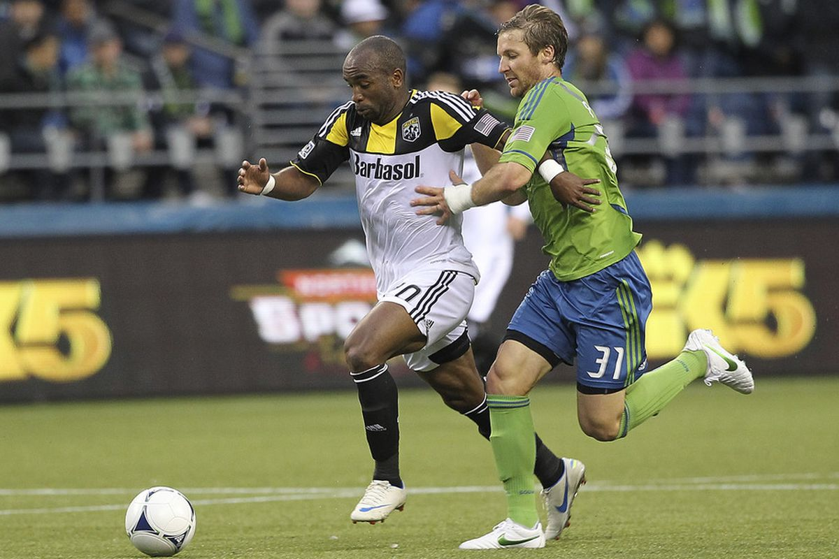Crew forward Emilio Renteria scored and assisted in Columbus' 2-0 victory over the Sounders.