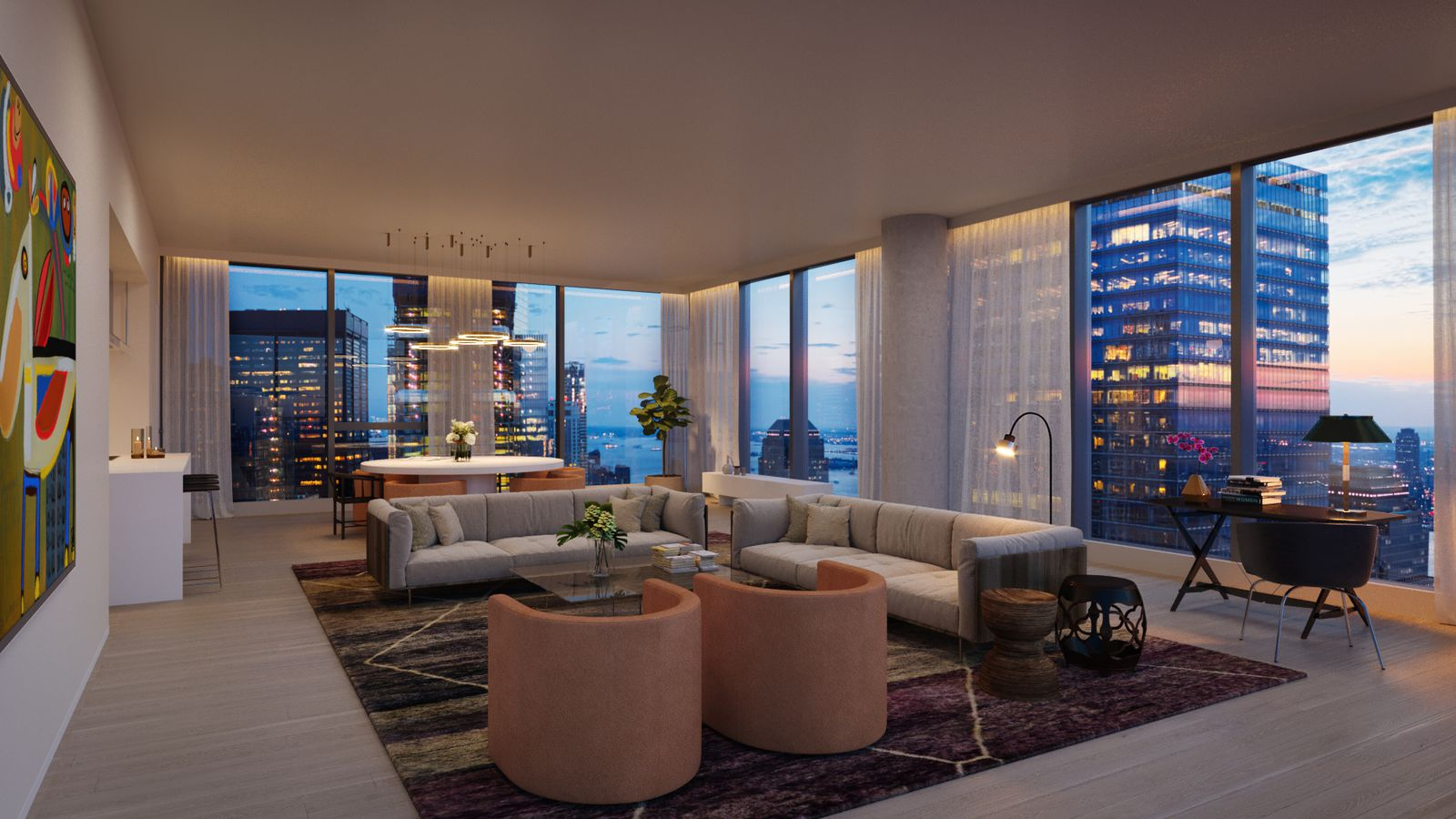 New looks at 45 park place sharif el gamal s fidi condo - 3 bedroom apartments for sale nyc ...