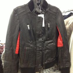 Surface to Air x Kid Cudi Women's Leather Bomber, $250