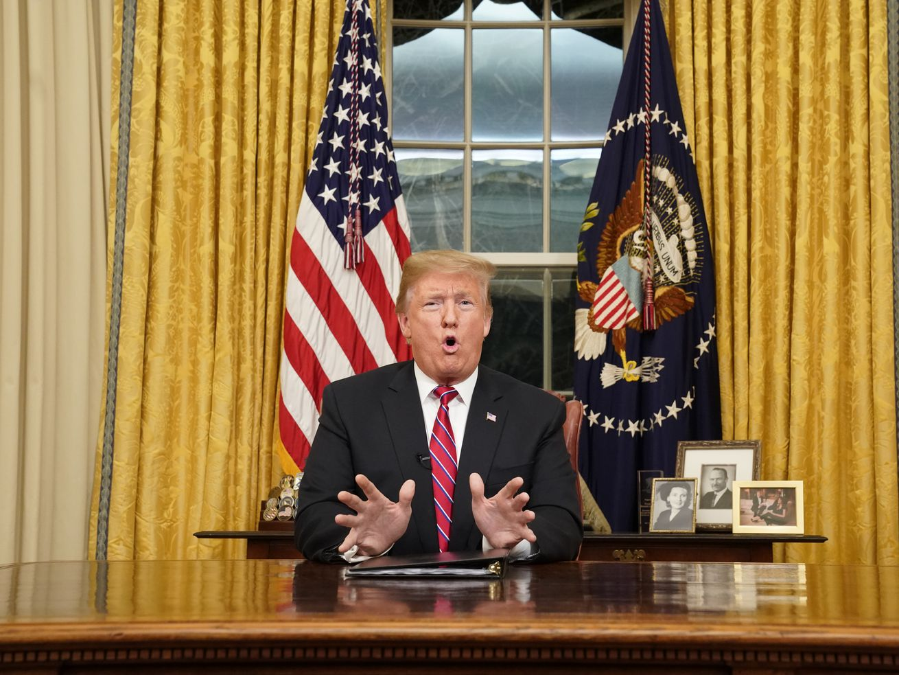 Trump gives his Oval Office address on Tuesday, January 8.