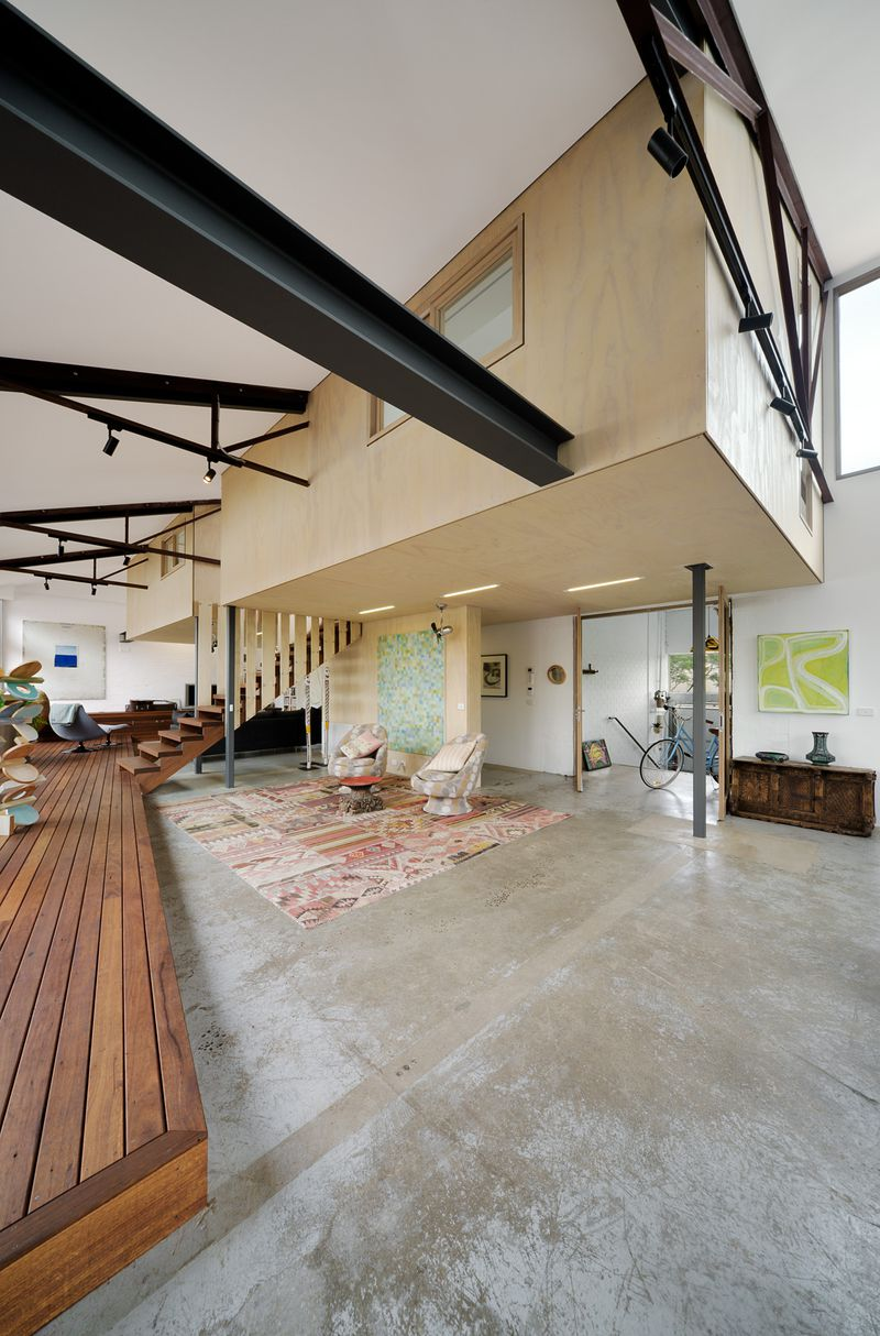 1960s warehouse becomes hip green home in Melbourne - Curbed