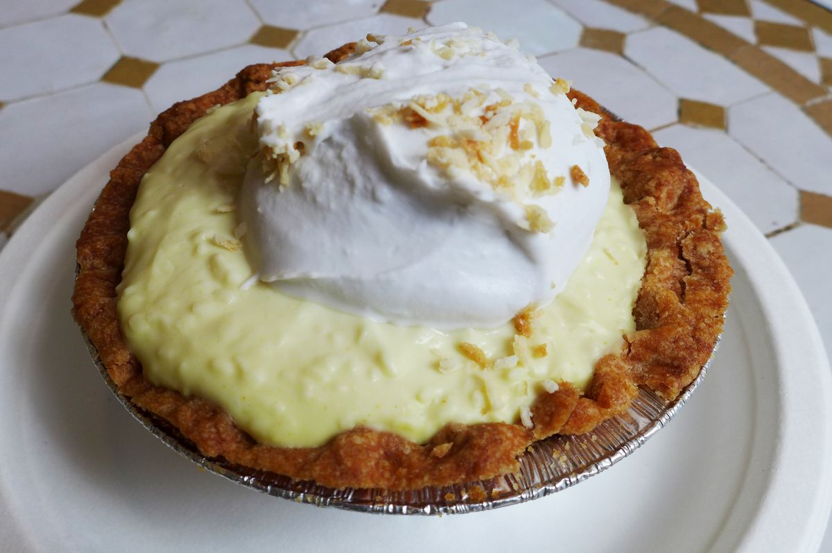 Coconut cream pie at Sweets By Chloe