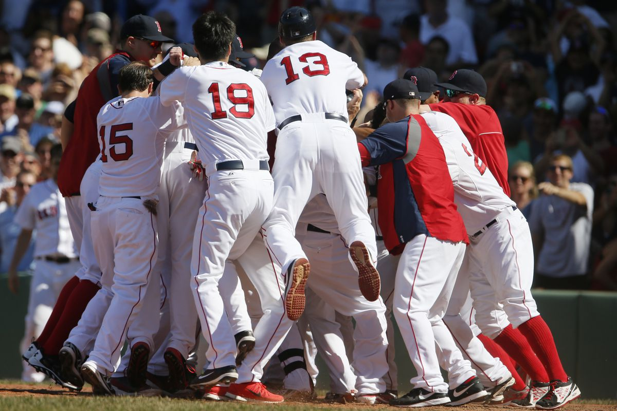 Somewhere in that pile is Mike Napoli, who was the reason for its existence in the first place.