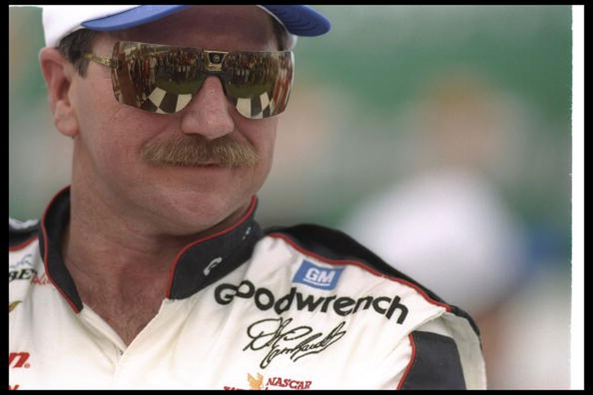13 Feb 1997: Dale Earnhardt looks on during a qualifying race for the NASCAR Daytona 500 at Daytona International Speedway in Daytona Beach, Florida. Jamie Squire, Getty Images Sport.