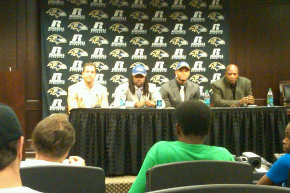 Ravens' Jimmy & Torrey Smith meet the press