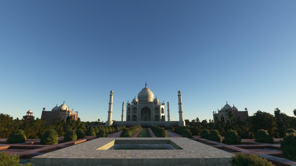 The Taj Mahal in Microsoft Flight Simulator