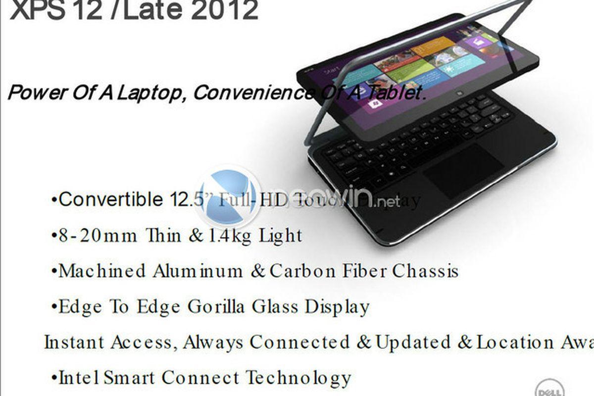 Dell Windows 8 tablet rumor