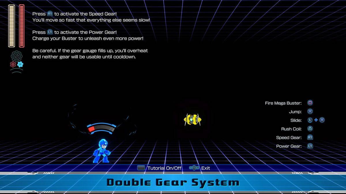 Mega Man 11 double gear system