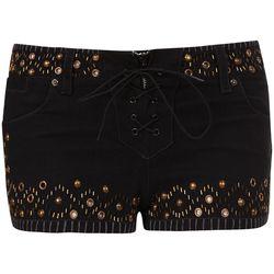 Studded Denim Short, $100