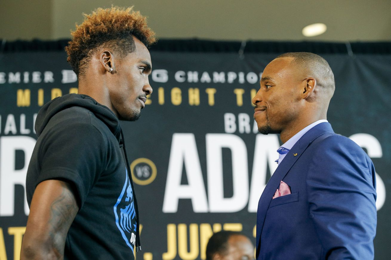 001 Jermall Charlo and Brandon Adams.0 - Charlo-Adams: Press conference quotes and photos