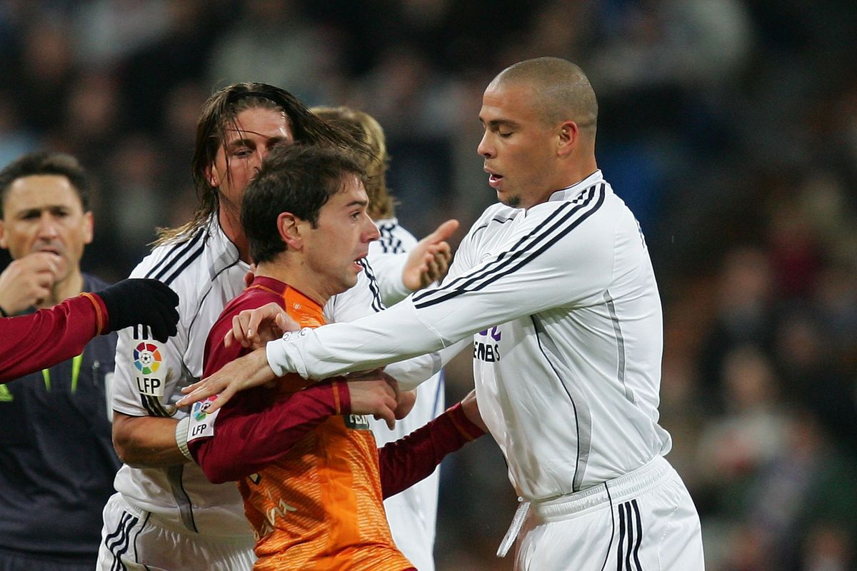 A young Santi Cazorla and Ronaldo in probably Recre's greatest victory, 3-0 at the Bernabeu in December 2006