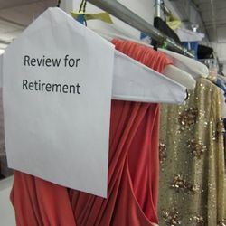 Returns are regularly reviewed for retirement. Anything damaged, worn, or irreparably stained gets taken out of circulation.