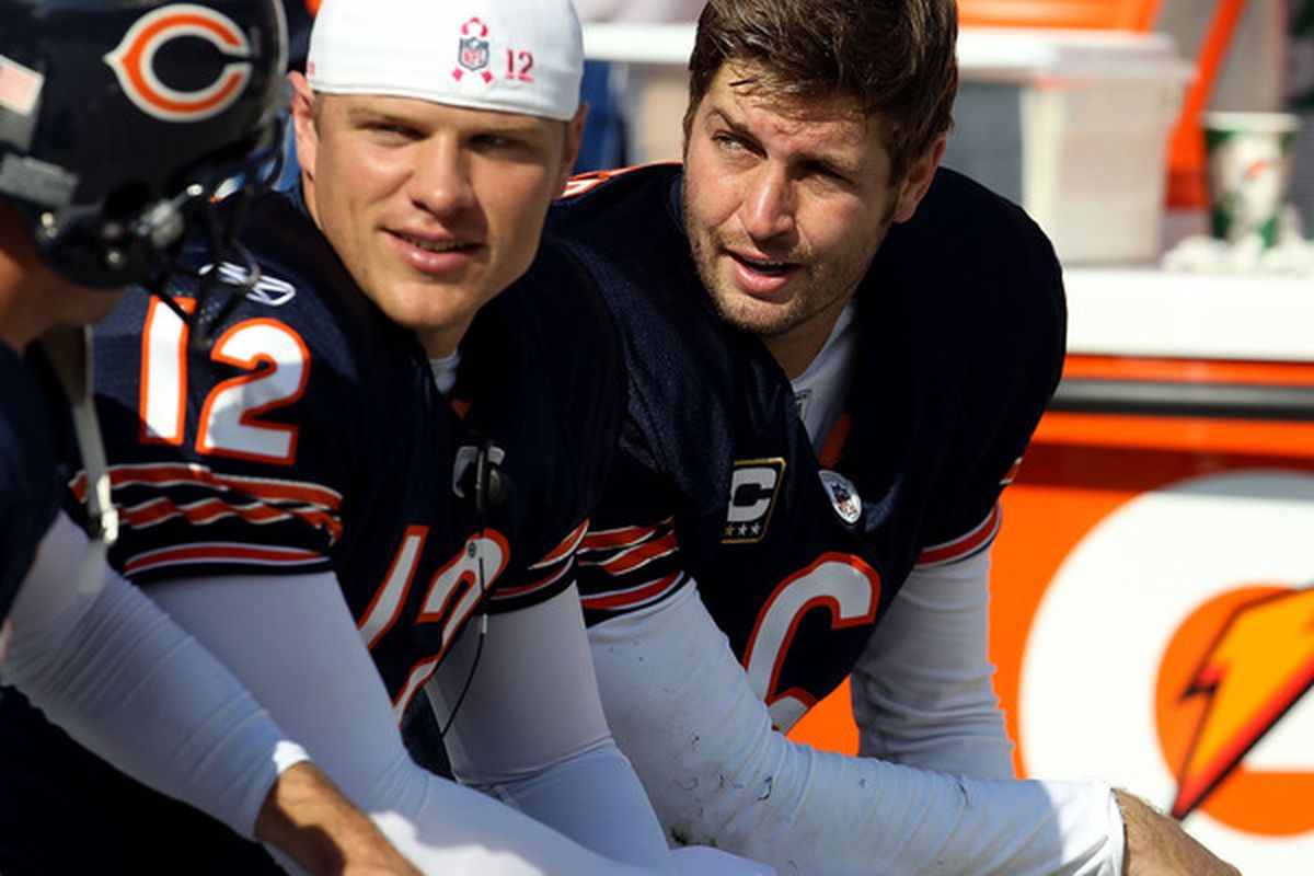 """""""Hey, Caleb, they keep saying I don't 'coach you up' or whatever. Remember, move, and if you see a large angry guy coming, throw to Earl, throw it away, or run like hell."""""""