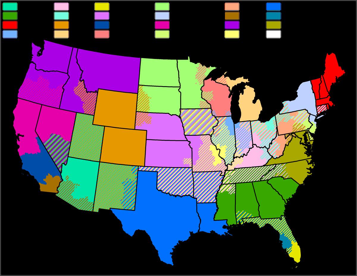 mlb territorial map