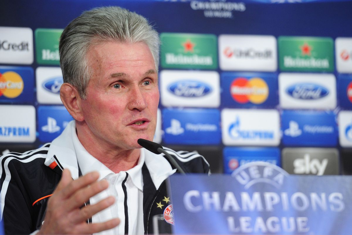 Jupp Heynckes in Munich today before Tuesday's Juventus clash.