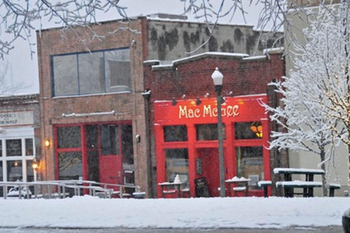Snow days past at Mac McGee's.