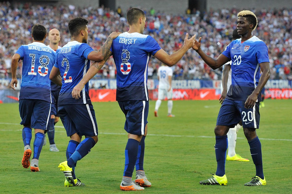 Yedlin and Dempsey are expected to feature again today, does Evans join them?