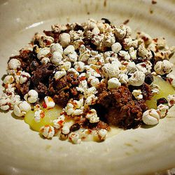 Boudin Noir and Toasted Buckwheat by @LA_Chefs