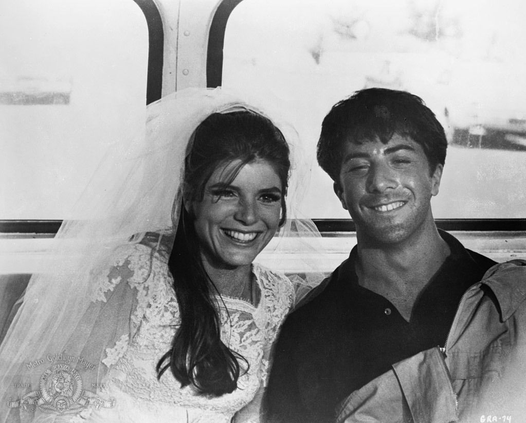 Katherine Ross and Dustin Hoffmann in The Graduate