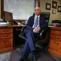 Dallas Earnshaw, superintendent of the Utah State Hospital, sits in his office in the administrative building on the hospital's grounds in Provo on Wednesday, May 17, 2017.