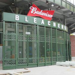 5:20 p.m. The main bleacher gate -