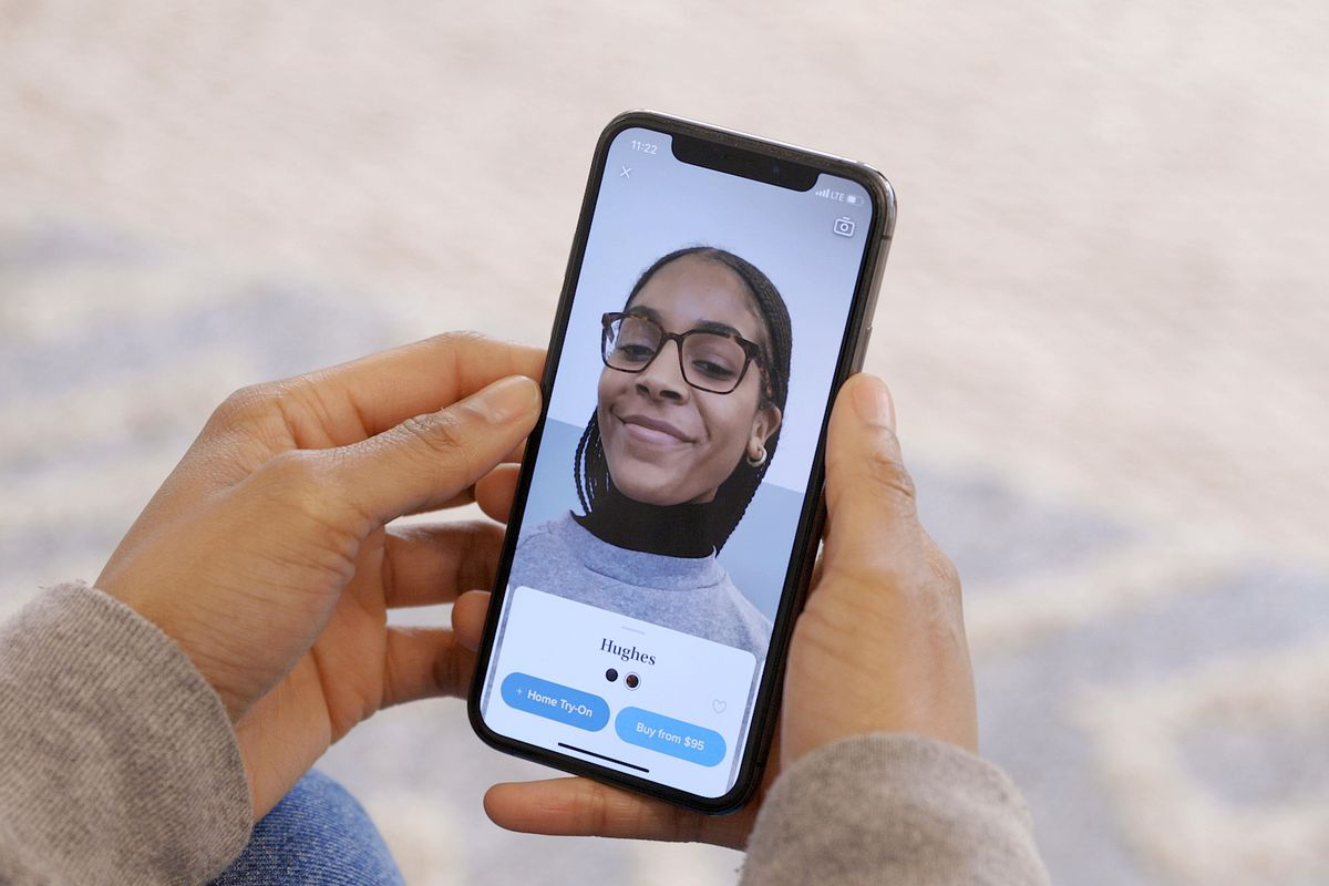 Warby Parker's new app uses AR and face scans to try on virtual