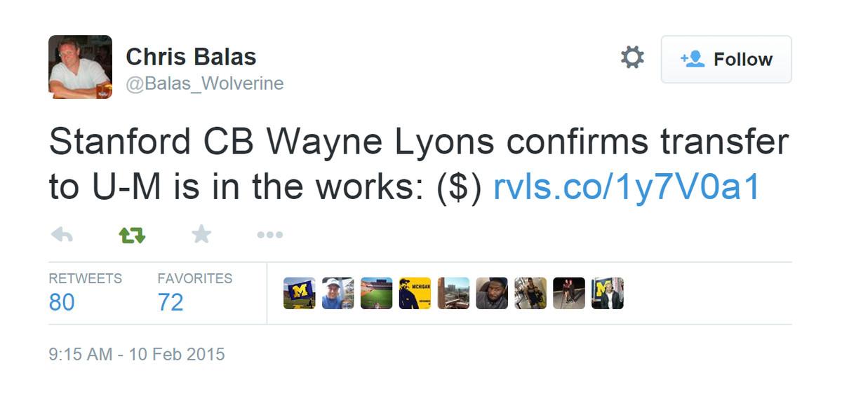 Lyons Confirmed?