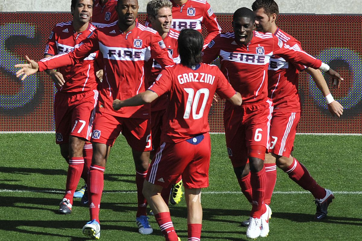Eight of the players contributing to a special Chicago Fire run
