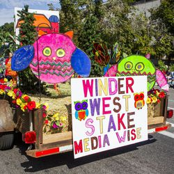The Salt Lake Winder West Stake float is pictured during the Days of '47 Union Pacific Railroad Youth Parade held Saturday, July 18, 2015, in Salt Lake City.