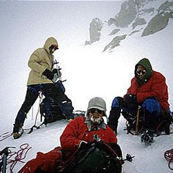 Rick Reese, in back, Dave Lowe, an Ogden native who is now deceased, center, and Ralph Tingey on Denali Peak in June 1990.