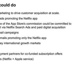 <em>Notably, Apple also looking at bundling Netflix with other Apple services.</em>