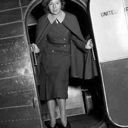 "Ellen Church, sporting the very first flight attendant uniform. Photo via <a href-""http://www.uahf.org/ua_flight_attendants_fashions.asp"">UAHF.org.</a>"