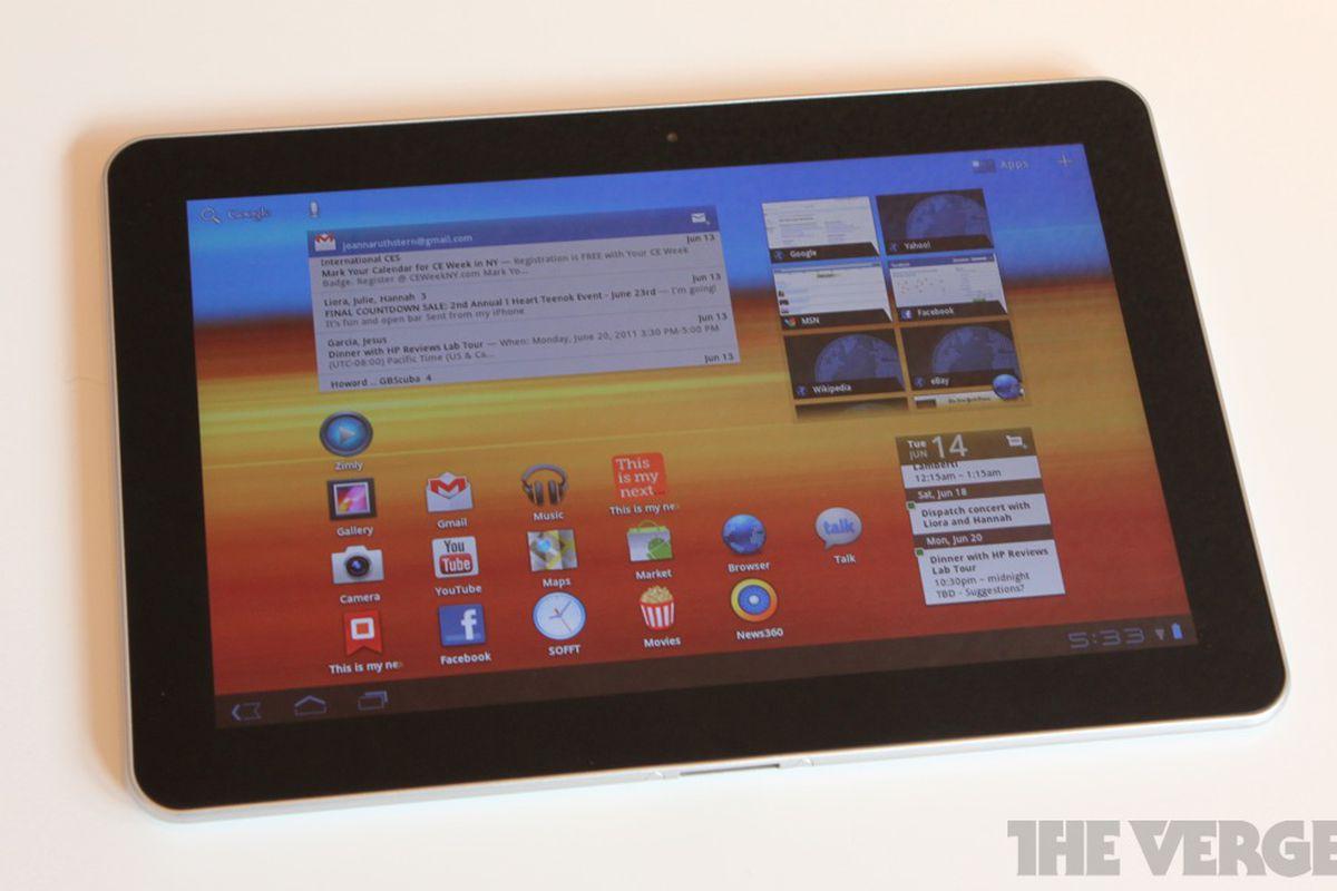 Galaxy Tab 10.1 lead
