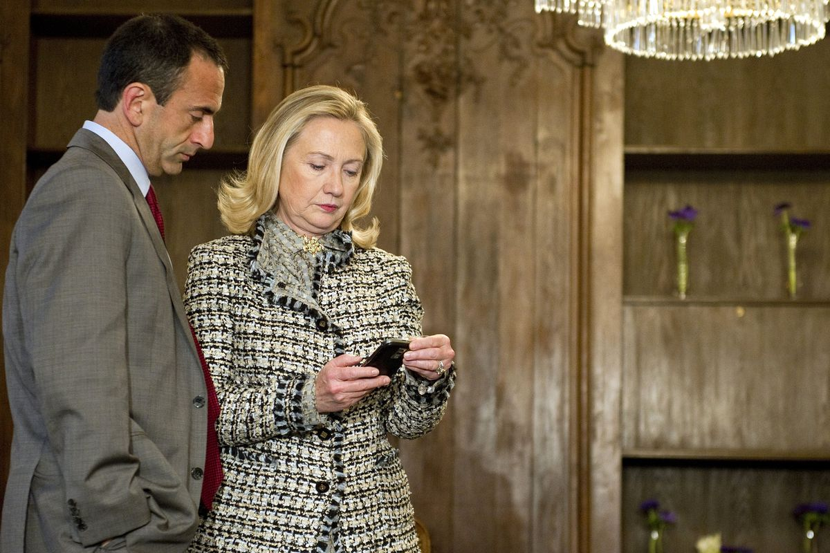 Clinton in 2012 with Assistant Secretary of State for European Affairs Philip Gordon.