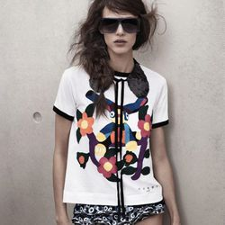 T-shirt, $19.95; Sequined collar, $19.95; Sunglasses, $19.95