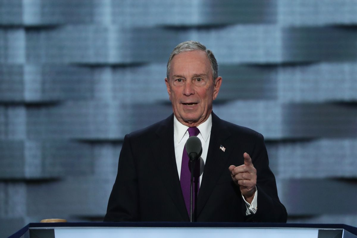 Michael Bloomberg addresses the convention