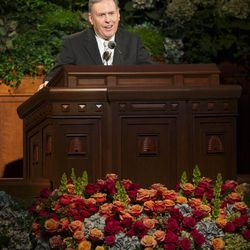 Elder Terence M. Vinson, of the Seventy speaks during the Sunday afternoon session of the 183rd Semiannual General Conference for the Church of Jesus Christ of Latter-day Saints Sunday, Oct. 6, 2013 inside the Conference Center.