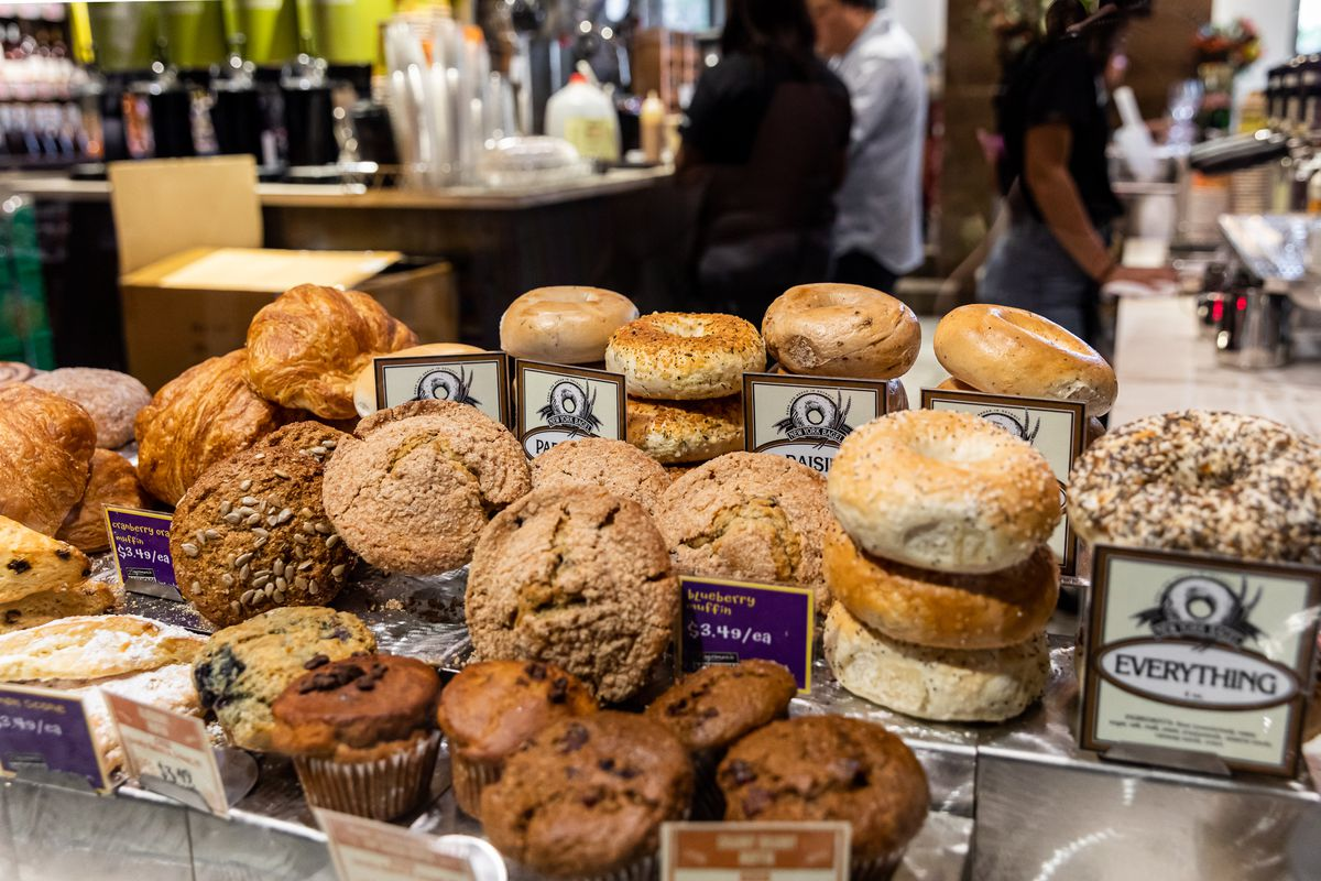 New York Bagel bagels and other Zingerman's pastries at Plum Market
