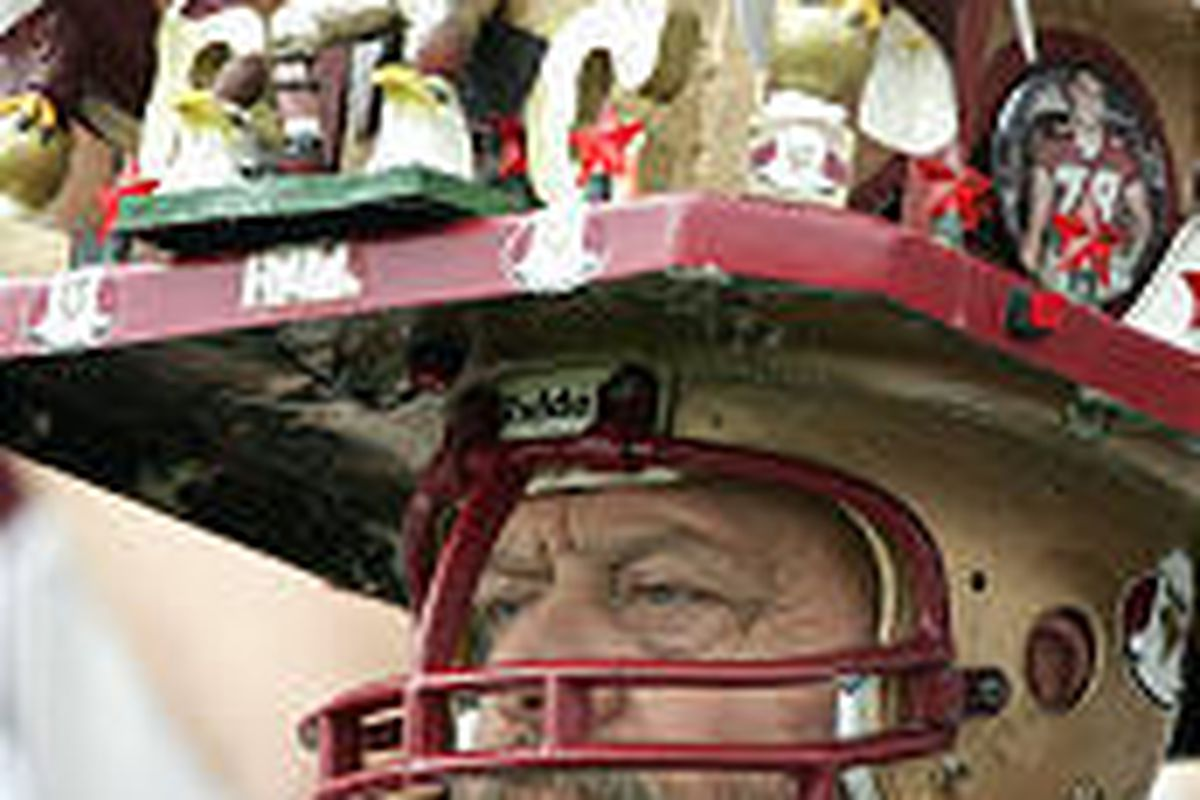Jack Hall, father of BC player Ty Hall, is hard to miss at games.